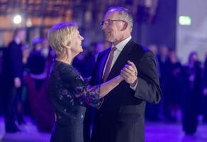 TÜ rektor Toomas Asser abikaasaga.