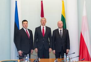 Prime ministers of all three Baltic States at Friday's meeting in Riga.