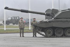 UK Prime Minister Boris Johnson visits soldiers at Tapa.
