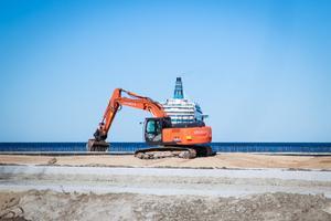 Aprillinali: kopp-laev Reidi tee ehitusel Tallinnas