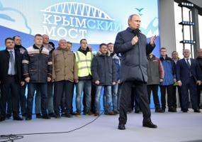 President Putin Krimmi raudteesilda avamas.