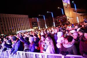 Aastavahetuse pidu Tallinnas Vabaduse väljakul.