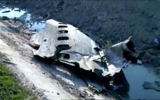 Alla kukkunud lennuki vrakk
