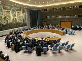 Välisminister Urmas Reinsalu New Yorgis ÜRO Julgeolekunõukogus.
