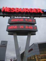 Hesburger and other signage which has been met with displeasure by the Language Inspectorate.