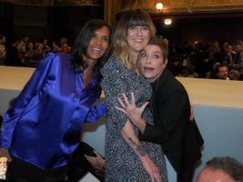 Karine Le Marchand, Daphne Burki and Daphne Roulier