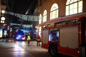 Fire on Viru Street in Tallinn's Old Town.