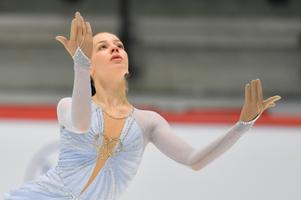 Анаис Корадуччи (Швейцария) .Юниорский чемпионат мира по фигурному катанию в Таллинне.