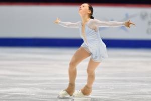 Анаис Корадуччи (Швейцария). Юниорский чемпионат мира по фигурному катанию в Таллинне.