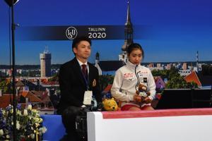 Мана Кавабе (Япония). Юниорский чемпионат мира по фигурному катанию в Таллинне.