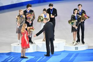 Iluuisutamise juunioride MM Tallinnas. Jäätantsu vabatants