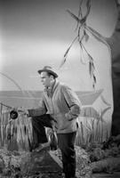 Laulja, lavastusliku kontsertpala filmimisel, Eesti Telefilm. 1960ndad Georg Ots