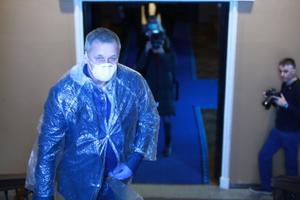 EKRE saadik Kalle Grünthal riigikogu juhatuse valimistel.