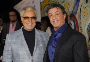 Tom Jones koos Sylvester Stallone'iga 2014. aastal