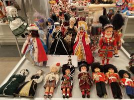 Сувенирные куклы из коллекции Хели Мянд в Музее Ярвамаа.