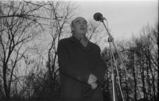 Ain Kaalep Tartu muinsuskaitsepäevadel 1988. aastal