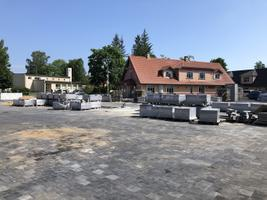 Renovation work at Kardla's central square.
