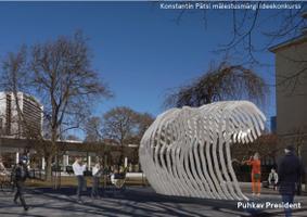 Финалисты конкурса идей на создание памятника Константину Пятсу.