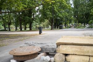Tammsaare pargi praegu korrastamata ala, kuhu tuleb mänguväljak