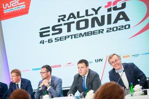 Rally Estonia press conference at Stenbock House on July 2.
