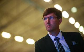 EKRE leader Martin Helme at the party's congress in July.