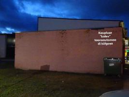 Стена на улице Калеви в Кохтла-Ярве до покраски.