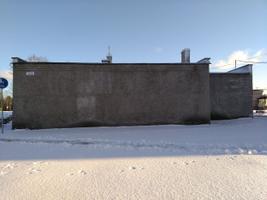 Стена на улице Яанику в Кохтла-Ярве до покраски.