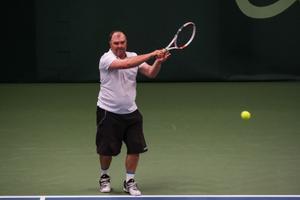 Показательный турнир по теннису.