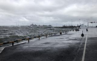 Stormy waters at the Port of Rohuküla. July 11, 2020.
