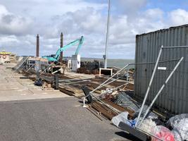 Tormi tekitatud kahju Rohuküla sadamas