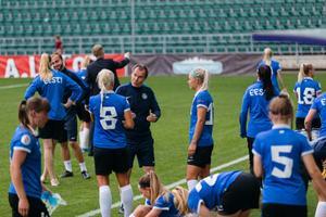 The Estonian women's football team.