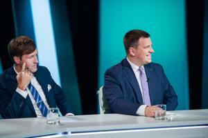 Дебаты правительственной коалиции и оппозиции на телеканале ETV.