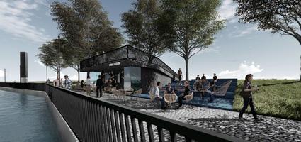 Новые кафе на берегу Эмайыги в Тарту.