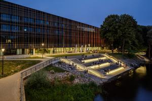 Estonian Landscape Architects Union Annual Awards: The outdoor space at the University of Tartu's Delta Center.