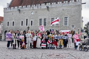 The march to support Belarusian women which took place in Tallinn on October 11.