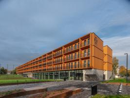Sisekaitseakadeemia Narva õppekeskuse ja Tartu Ülikooli Narva kolledži ühine õppe- ja majutushoone.