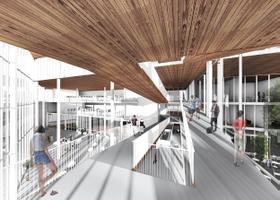 """Tõnismäe riigigümnaasiumi konkursile esitatud kavand """"Carpe Diem"""" arhitektuuribüroolt MA."""