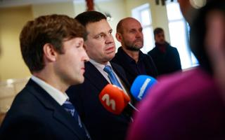 Martin Helme, Jüri Ratas, Helir-Valdor Seeder on Monday.