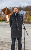 Veneetsia arhitektuuribiennaali eelnäitus Põlvas. Eesti Arhitektide Liidu ja EV100 projektijuht Kalle Vellevoog