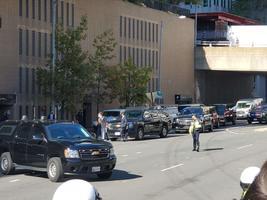 President Donald Trump saabub oma kampaania peakorterisse Arlingtonis.