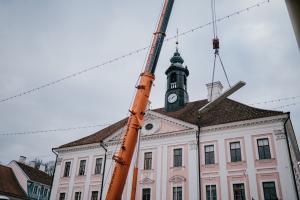 Строительство катка в Тарту.