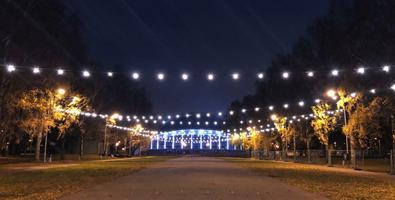 На Певческом поле готовятся к открытию Рождественского парка.