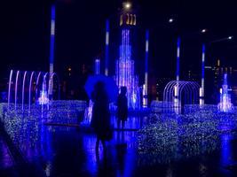 Световая инсталляция на площади Вабадузе.