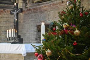First advent candle lit in Narva (November 29, 2020).