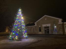 The Rakvere deputy mayor's Christmas tree, near the train station.