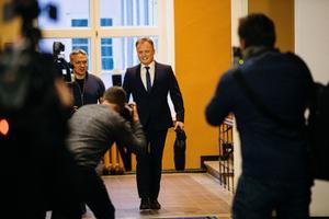 Imre Sooäär taking his Riigikogu oath.