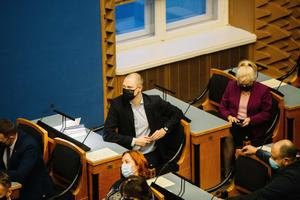 The riigikogu sitting on Monday, December 14.