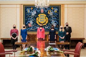 President Kersti Kaljulaid appoints new judges.
