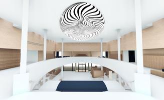 Saaremaa riigigümnaasiumi aatriumi kunstikonkursil äramärgitud töö,