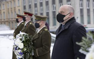 Sunday morning's War of Independence remembrance ceremony at Vabaduse väljak in Tallinn.